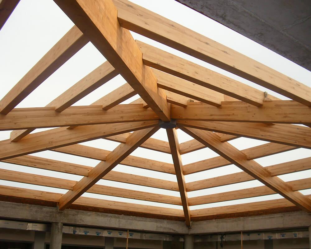 Proyecto estructuras de madera Lucernario 1