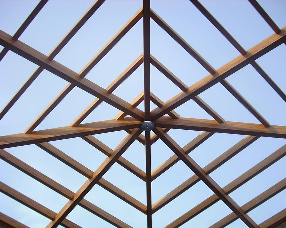 Proyecto estructuras de madera Lucernario 2
