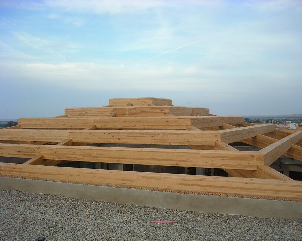 Proyecto estructuras de madera Lucernario 3