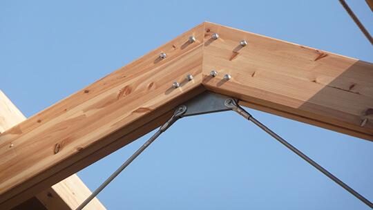 Herraje metálico para estructuras de madera