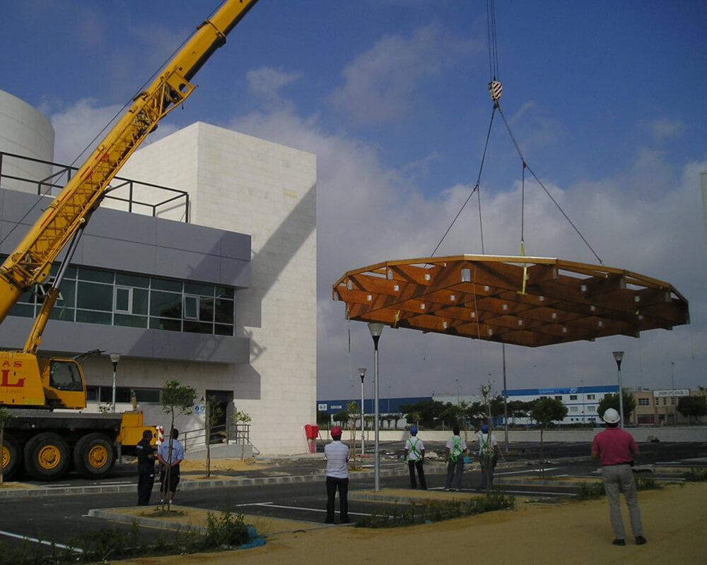 Estructuras de madera de Oficinas de El Puerto