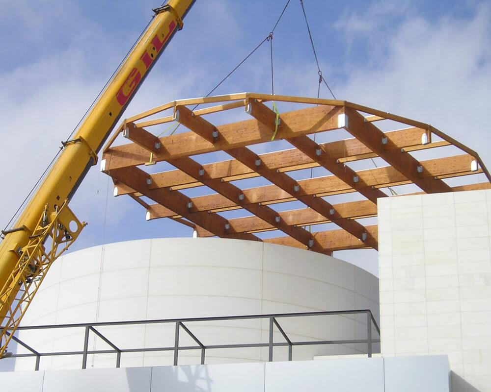 Estructuras de madera de Oficinas de El Puerto 3