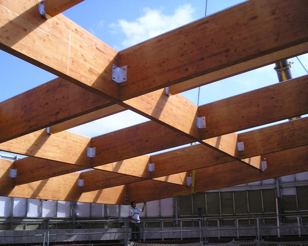 Estructuras de madera de Oficinas de El Puerto 5