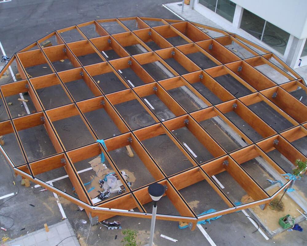 Estructuras de madera de Oficinas de El Puerto 6