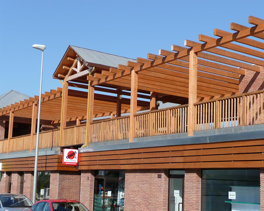 Centro Comercial - Estructura de madera 2