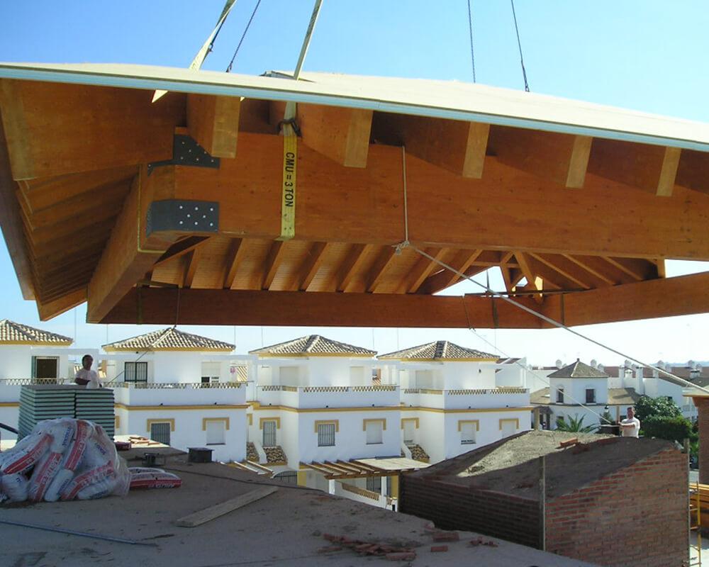 Centro Comercial - Estructura de madera 6
