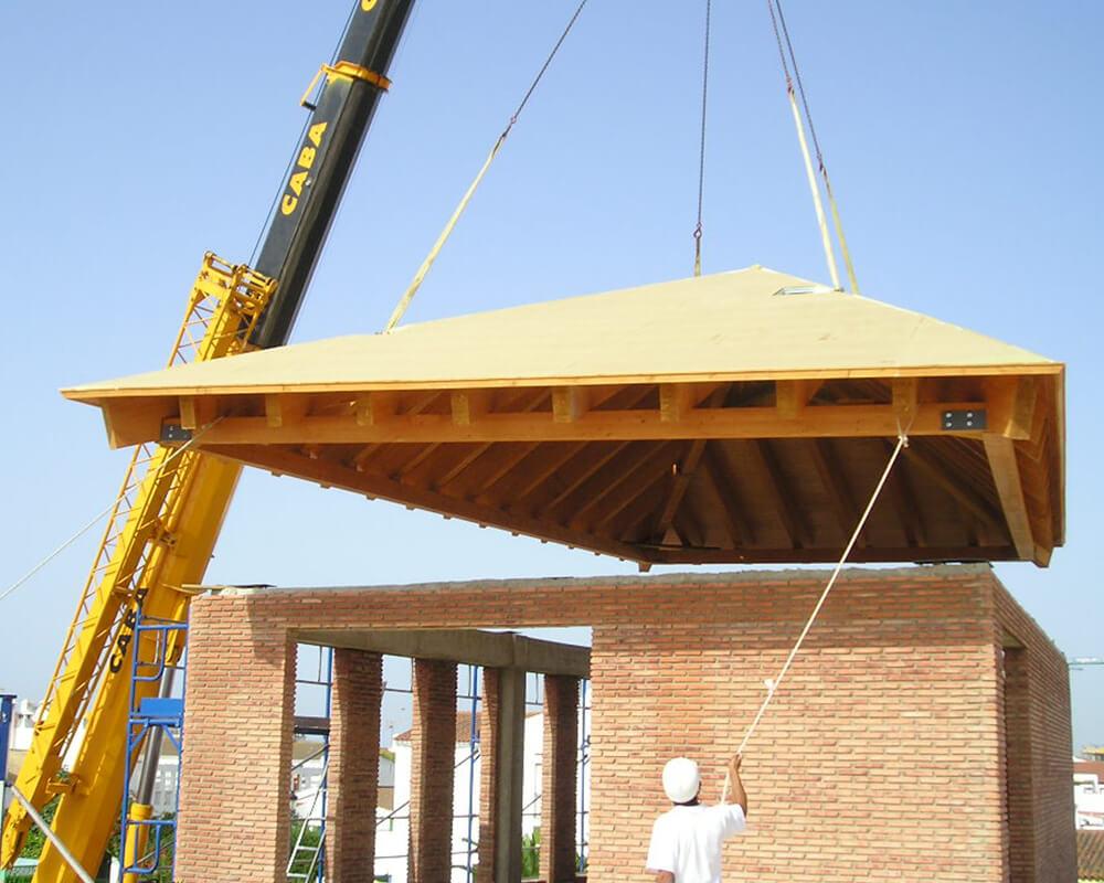 Centro Comercial - Estructura de madera 7