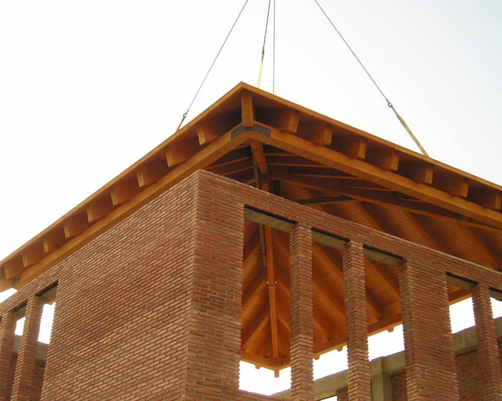 Centro Comercial - Estructura de madera 8