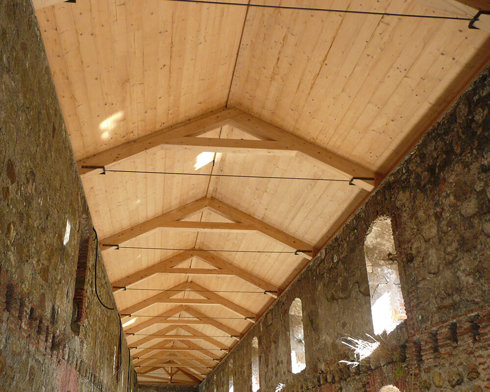 Estructuras de madera - Monasterio El Cuervo