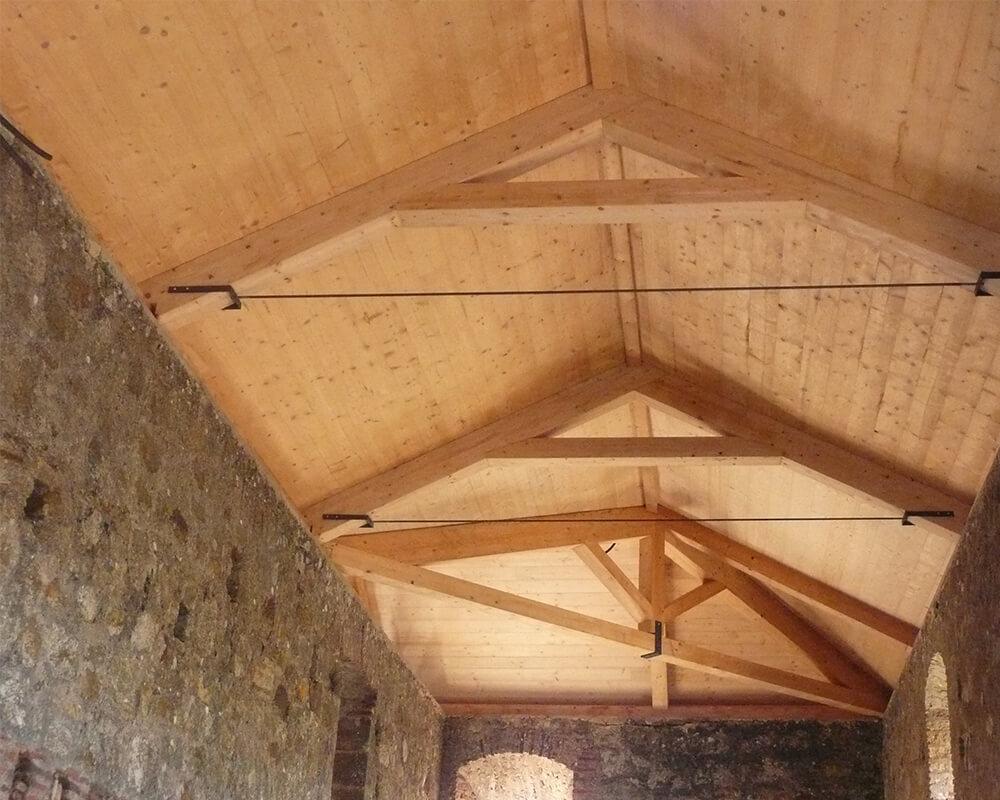 Estructuras de madera - Monasterio El Cuervo 2