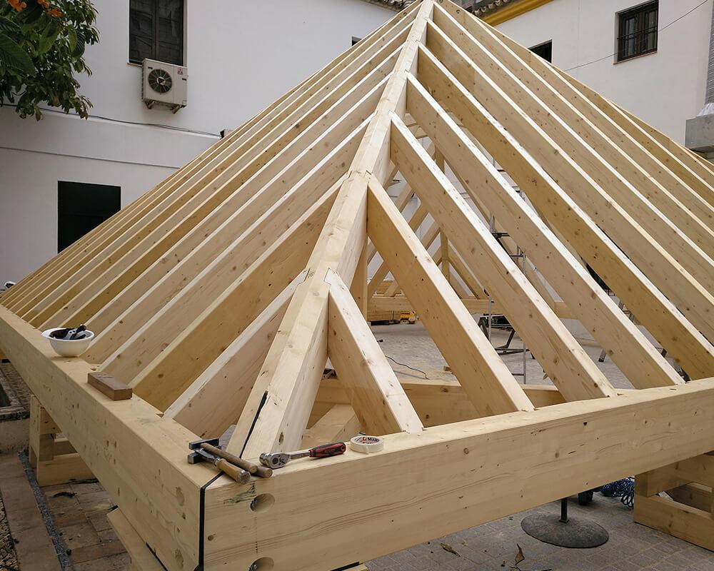 Estructuras de madera - Edificio Museo de Carruajes (Sevilla)