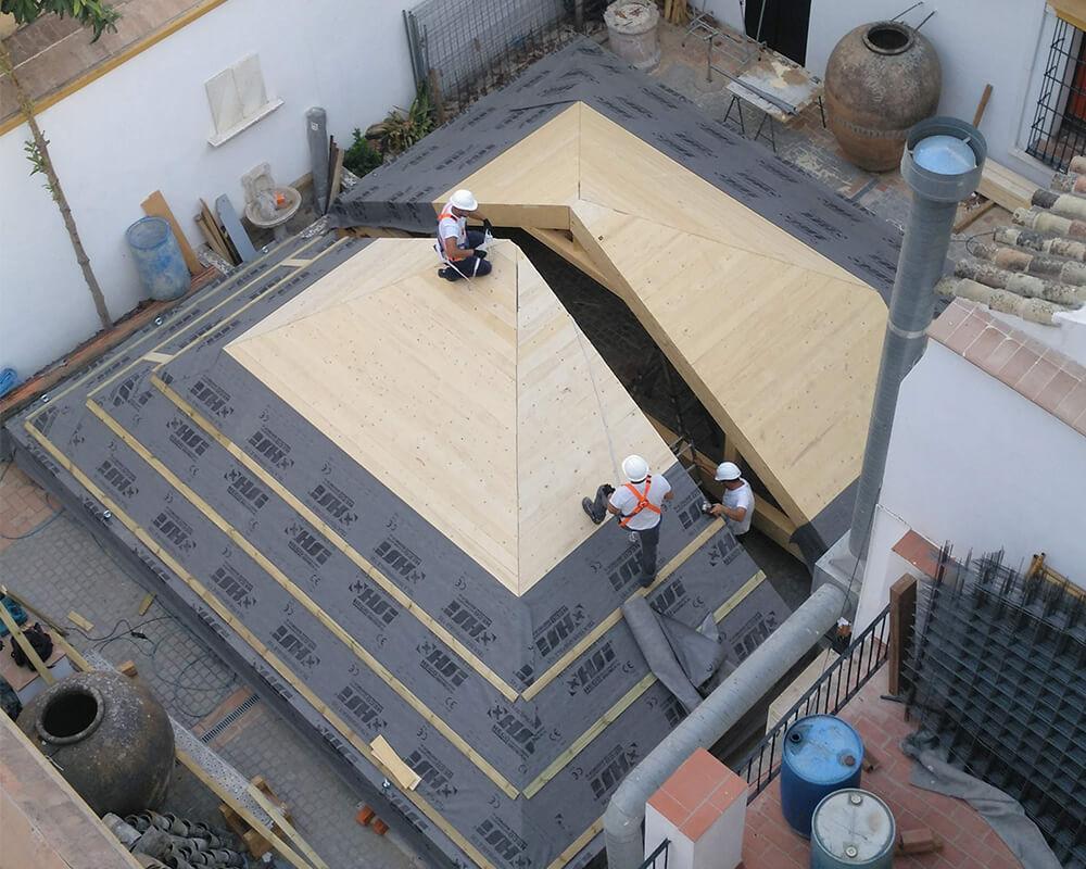 Estructuras de madera - Museo de carruajes