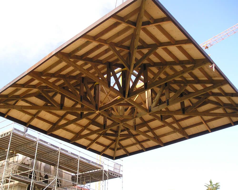 Estructuras de madera - Hotel en Mojácar 2