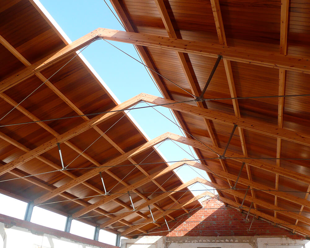 Estructuras de madera - Capilla Sancti Petri