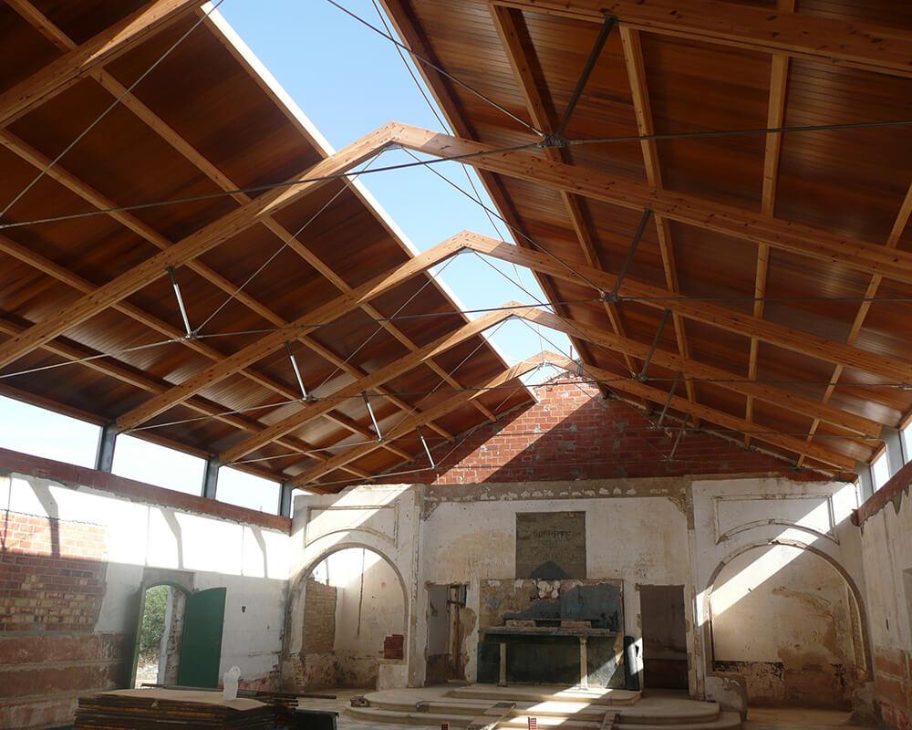 Estructuras de madera - Capilla Sancti Petri 2