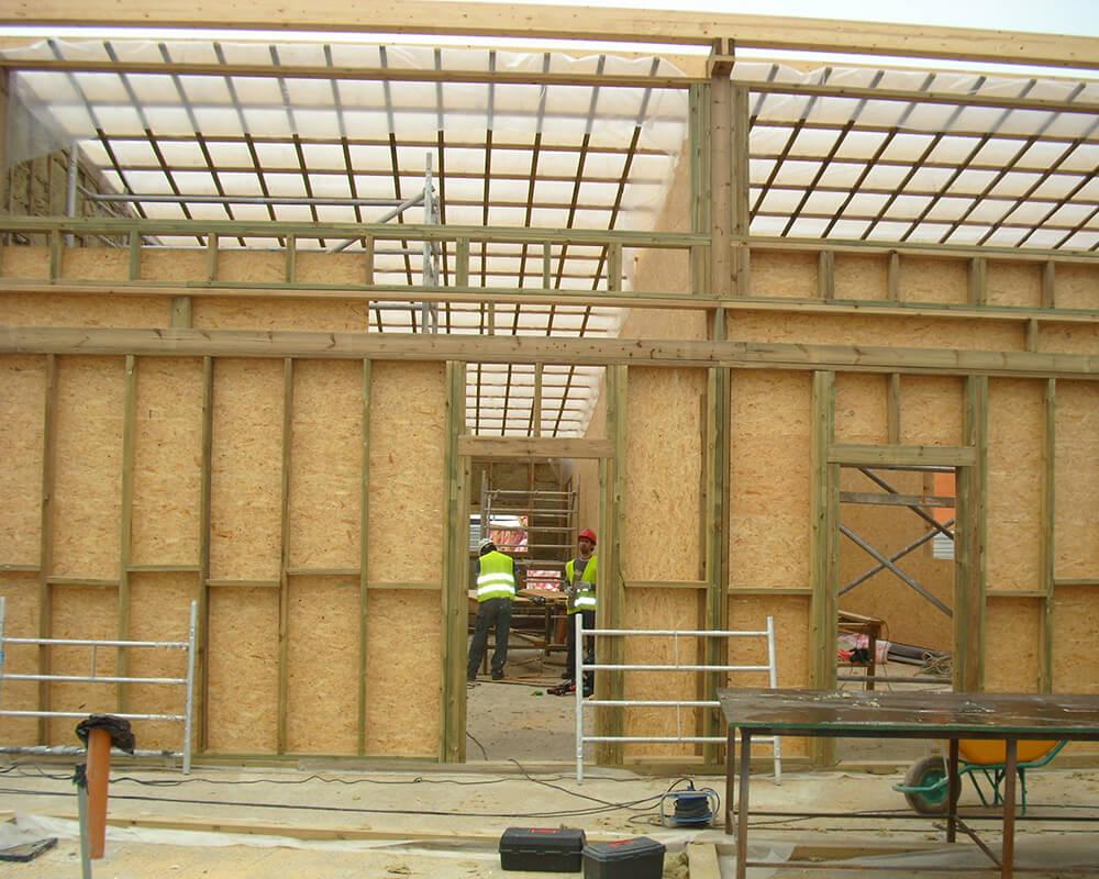 Estructuras de madera - Guardería Municipal