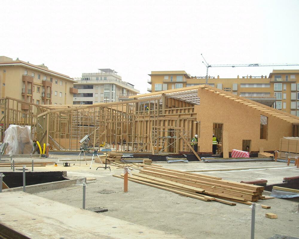 Guardería Municipal Isla Cristina - Estructuras de madera