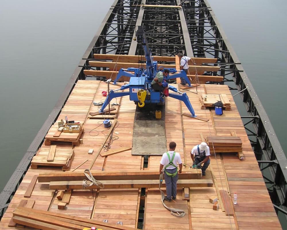 Estructuras de madera - Muelle del Tinto 2