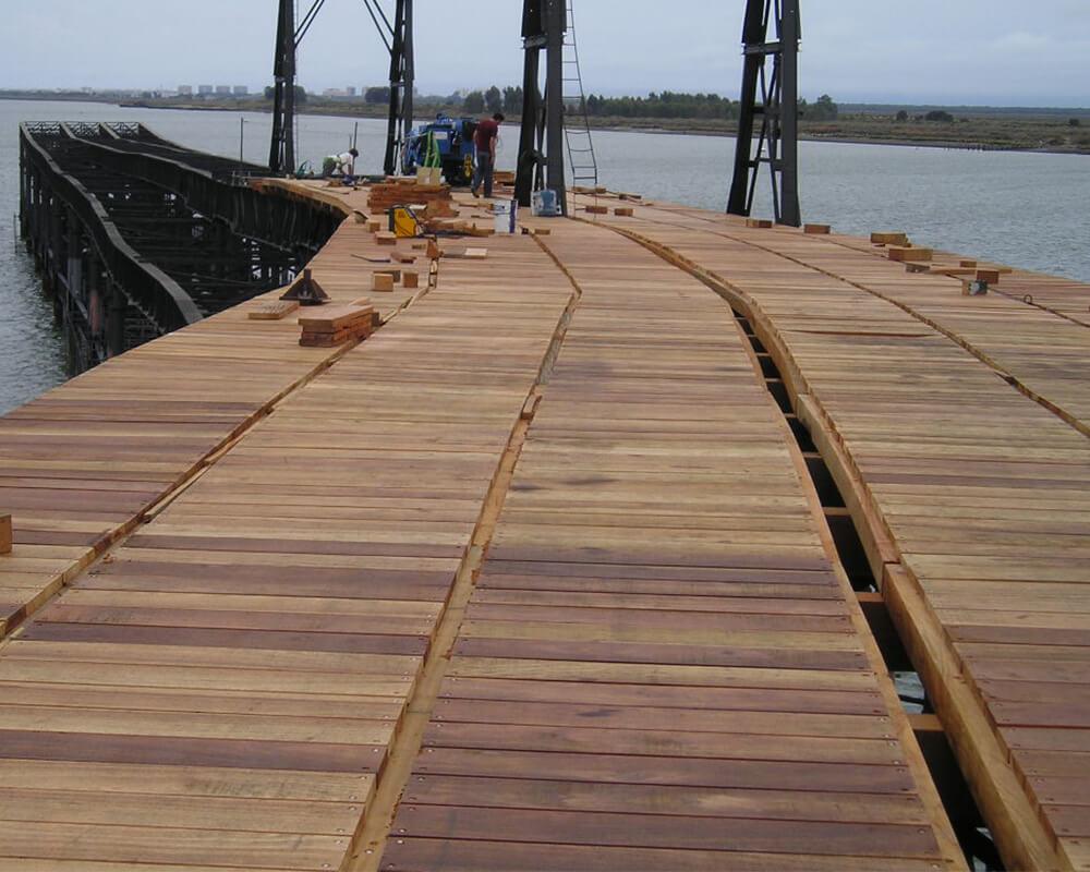 Estructuras de madera - Muelle del Tinto 3