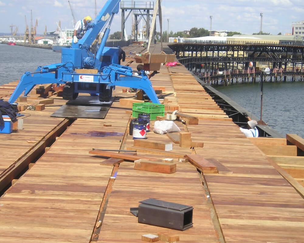 Estructuras de madera - Muelle del Tinto 5