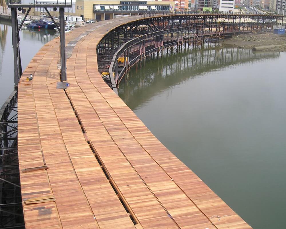 Estructuras de madera - Muelle del Tinto 7